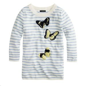 J. Crew Merino Tippi Monarch Butterfly Sweater S